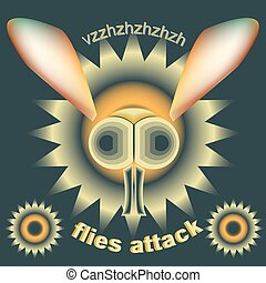 Flies attack