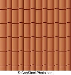 fliese dach, vektor, seamless, hintergrund