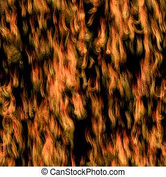 fliese, spärlich, feuerflammen, seamless