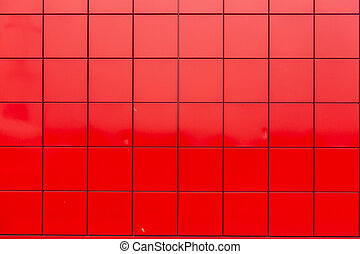fliese, wand, rotes