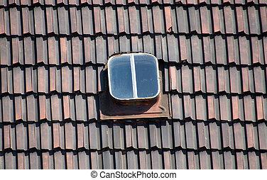 fliesenmuster, dach