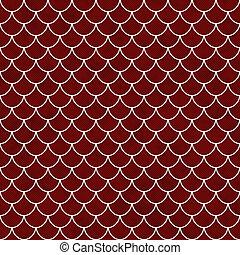 fliesenmuster, schale, muster, wiederholung, hintergrund, weiß rot