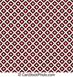 fliesenmuster, wiederholung, muster, diagonal, hintergrund, weißes, quadrate, rotes