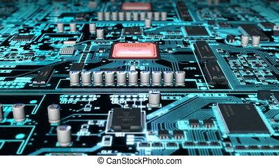 Flight above circuit board vs heated cpu, loop