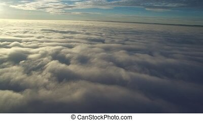 flight above clouds