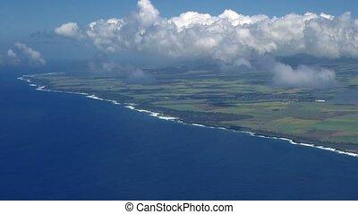 Flight above coastline, Ile De La Reunion - 1080p, Flight ...