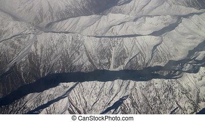 Flight along the wall of the Himalayas 2