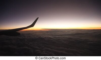 Flight And Sunset