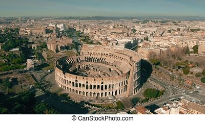Flight around Colosseum in Rome, Italy - Flight around...