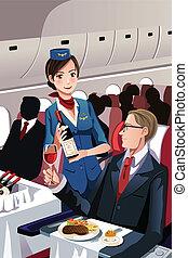 Flight attendant - A vector illustration of a flight...