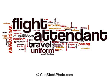 Flight attendant word cloud concept