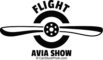 Flight avia show logo, simple style