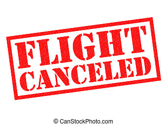 FLIGHT CANCELED Rubber Stamp