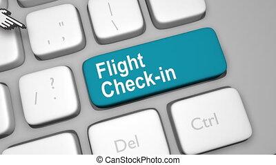 Flight check in online shot clip