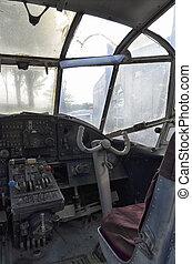 Flight deck of a old Antonov An-2