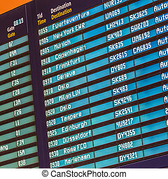 Flight departures board. - Departures board at the airport ...