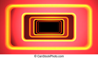 """""""Flight in abstract futuristic tunnel with yellow borders"""""""