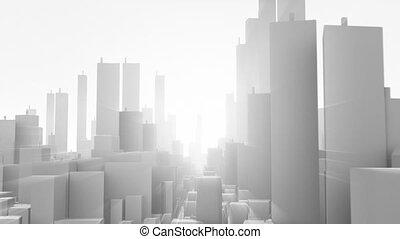 Flight in city for light
