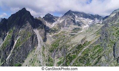 flight in beautiful Tatras mountains
