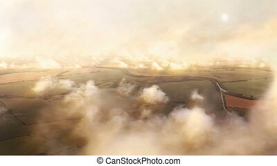 Flight in the clouds