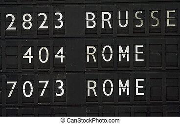 Flight information for Rome