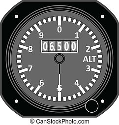 Flight instrument - Altimeter.
