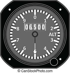 Flight instrument - Altimeter.