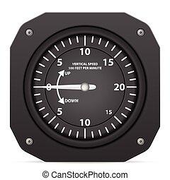 Flight instrument variometer