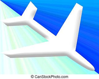 Flight landing - Flight descending down