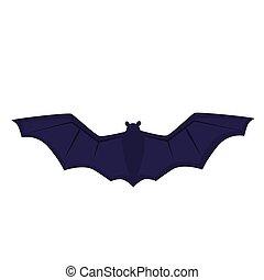flight of a bat. Vector illustration for Halloween