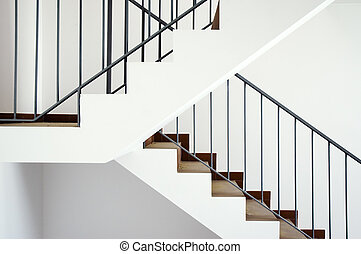 Flight of stairs in a new house