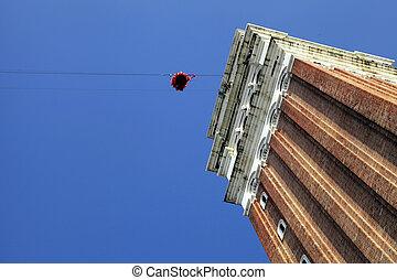 """""""Flight of the angel"""", Venice, Italy."""