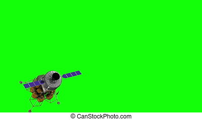 Flight Of The Crew Exploration Vehicle On Green Screen