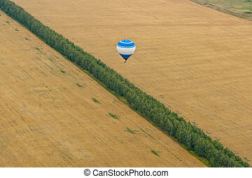 Flight on baloon