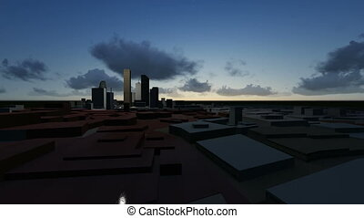 flight over 3d city - high quality 3d animation made in...