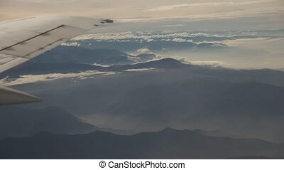 Flight Over Andes Mountains
