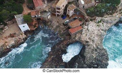 Flight over beautiful seashore at Mallorca - Flight over...