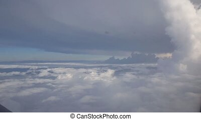 Flight over clouds, loop-able animation - Flight over...