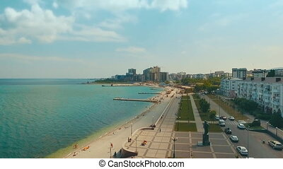 flight over embankment of Novorossiysk
