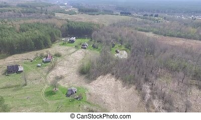Flight Over Farmstead - Aerial HD High Quality footage from...