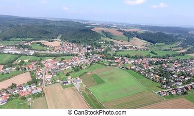 flight over germany - hessen