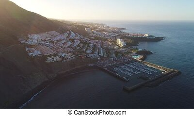 Flight over Los Gigantes city at Tenerife - Flight over Los...