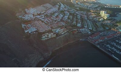 Flight over Los Gigantes city at Tenerife - Flight over Los...