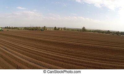 Flight Over Potato Field