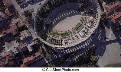 Flight over Pula Arena, Croatia. Untouched LOG format