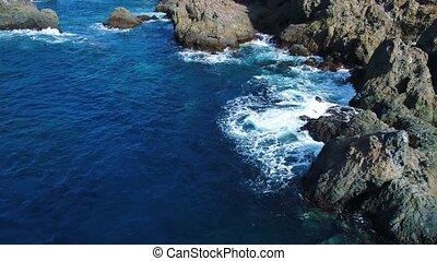 Flight over seashore at Tenerife - Flight over seashore at...