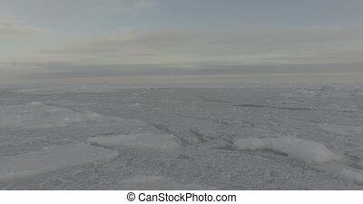 Flight over the Arctic Ocean