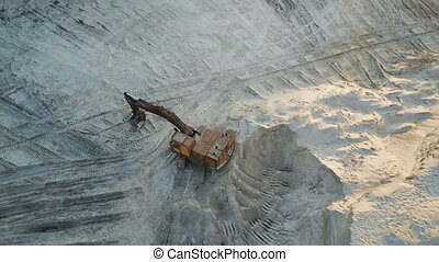 Flight over the excavator