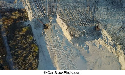 Flight over the sand mining company - Flight over the...