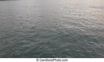 Flight over Waters on Lake Malawi - Lake Malawi waterscape. ...